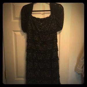 Black beaded dress with sleeve